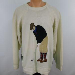 Vintage Hathaway Golf crew neck sweater.  XL
